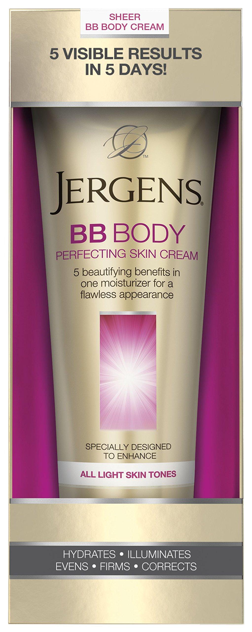 Jergens BB Body Perfecting Skin Cream, All Light Skin Tones, 7.5 Ounces