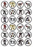 Transformers Edible PREMIUM THICKNESS SWEETENED VANILLA,Wafer Rice Paper Cupcake Toppers/Decorations