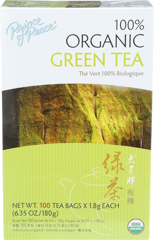 Prince of Peace Organic Green Tea 100 Tea Bags - 2 pack : Grocery & Gourmet Food
