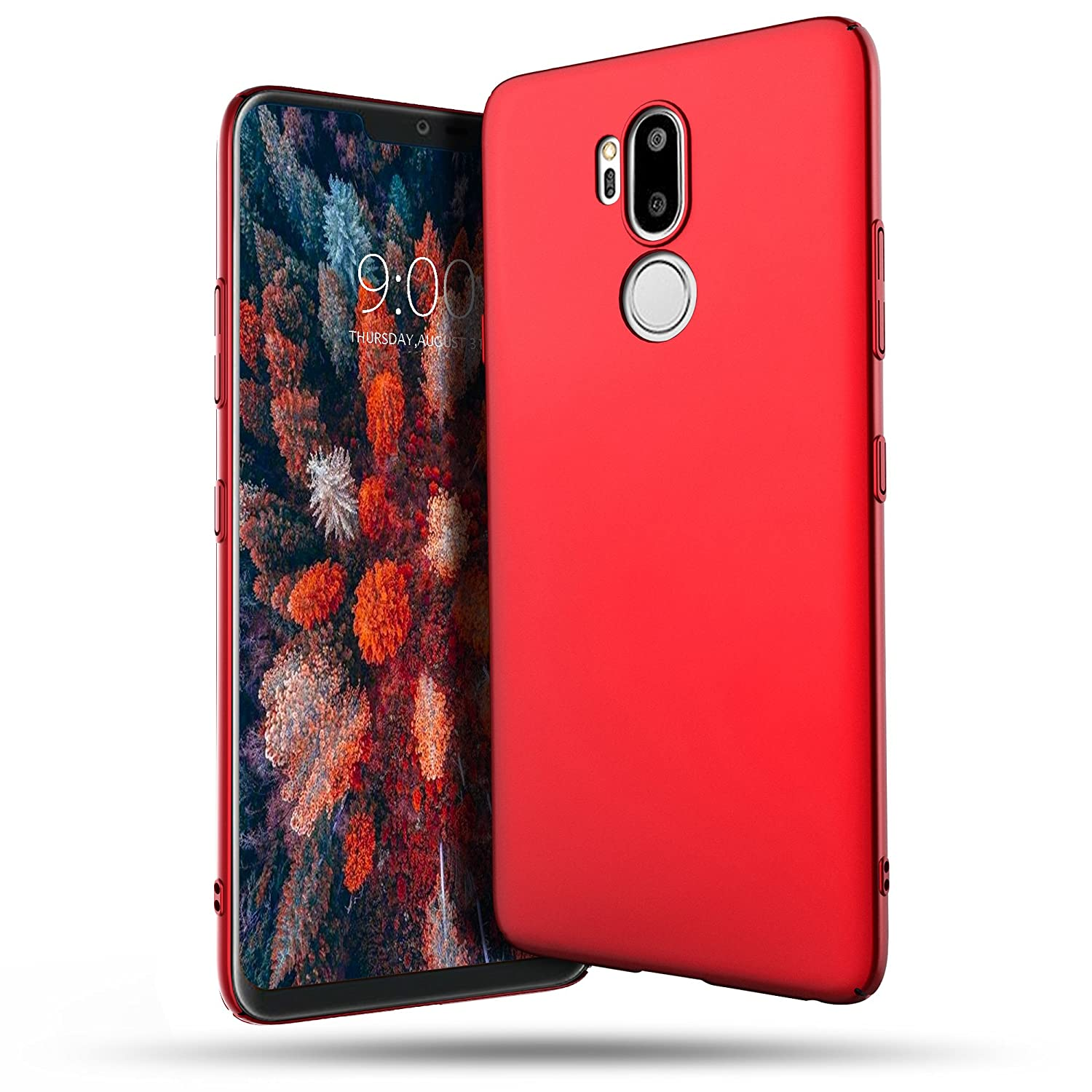 LG G7 ThinQ Case, Belk Ultra Slim Thin Snug-Fit Scratch Resistant Premium PC Hard Protective Cover with Matte Finish Coating for LG G7 ThinQ, Black tzy-g7pc-bk