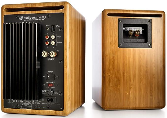 Audioengine A5+ Classic 150W Altavoces de estantería | Amplificador Analógico Incorporado | Control Remoto | Entradas RCA y 3.5mm. | Cables Incluidos ...