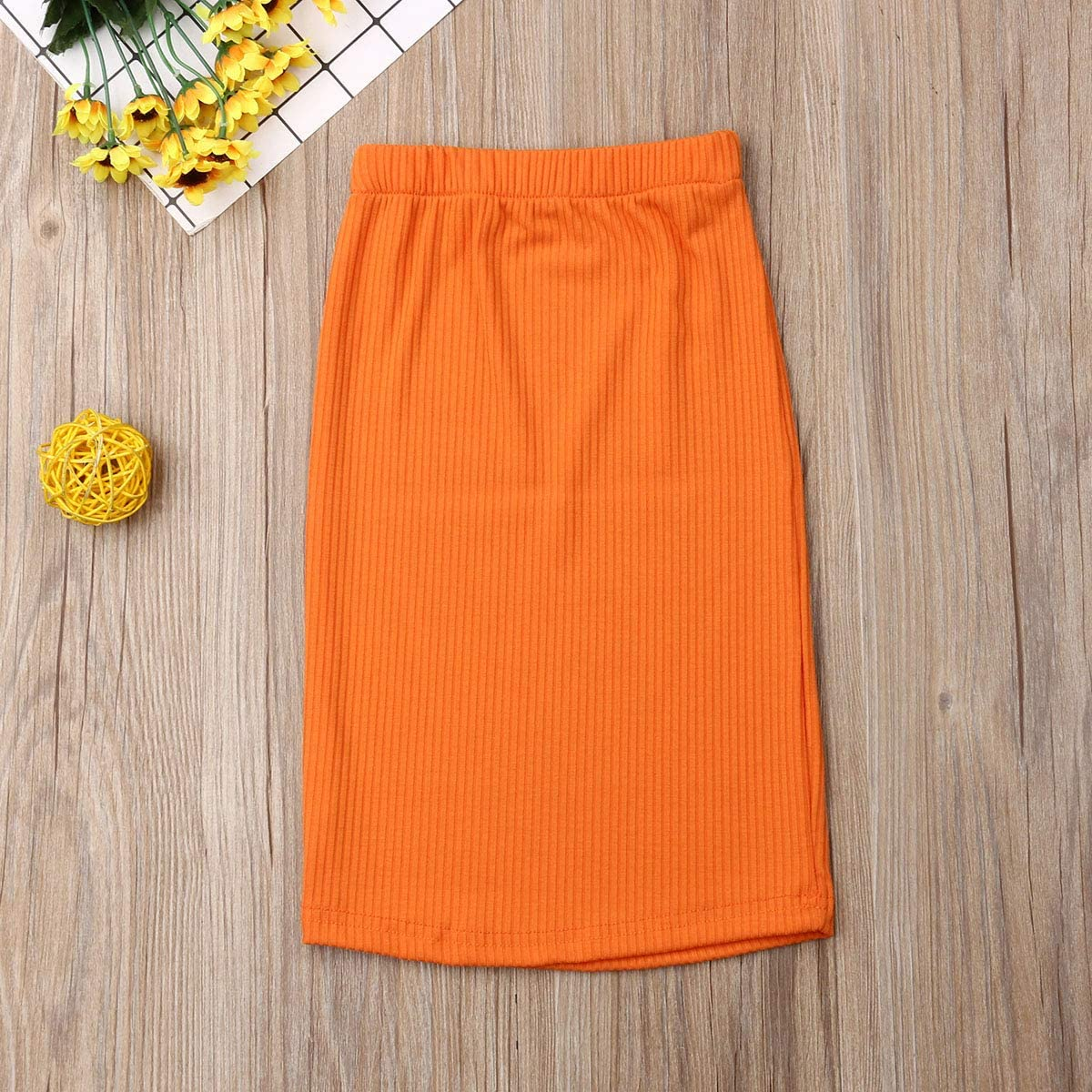 WUPPRT Toddler Baby Girl Knit Hip Skirt Solid High Waisted Pencil Straight Skirt Clothes