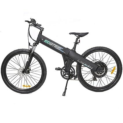 Amazon.com : New Electric Bike Matt Black Electric Bicycle Mountain ...