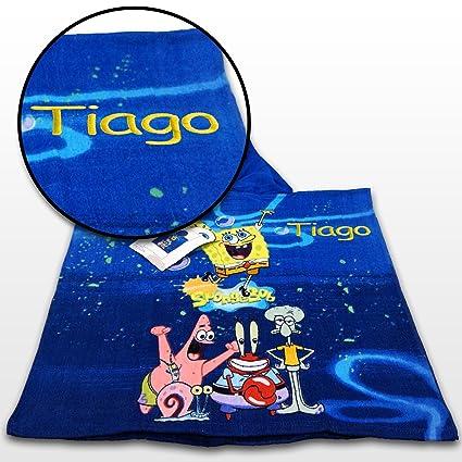Kid s Regalo personalizado Poncho con capucha y piscina de baño toalla de playa –