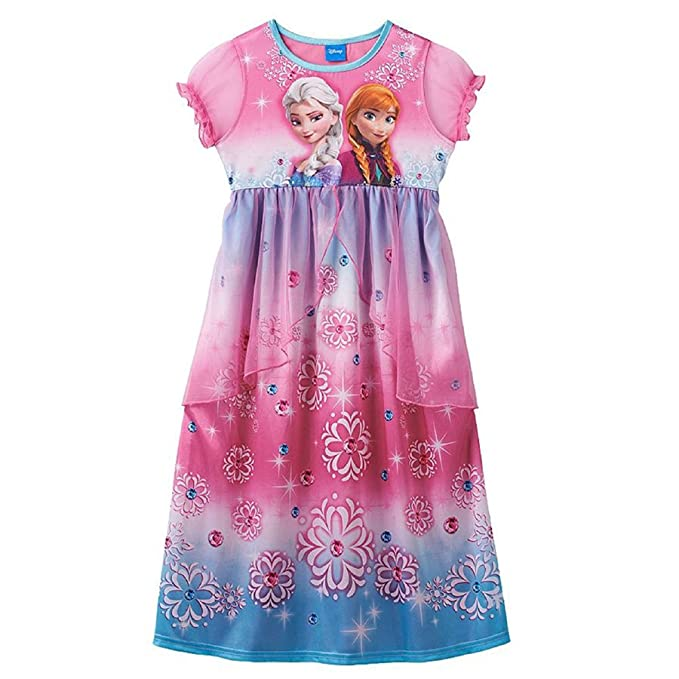 49382b52a Amazon.com  Disney s Frozen Elsa   Anna Sparkly Sisters Nightgown ...