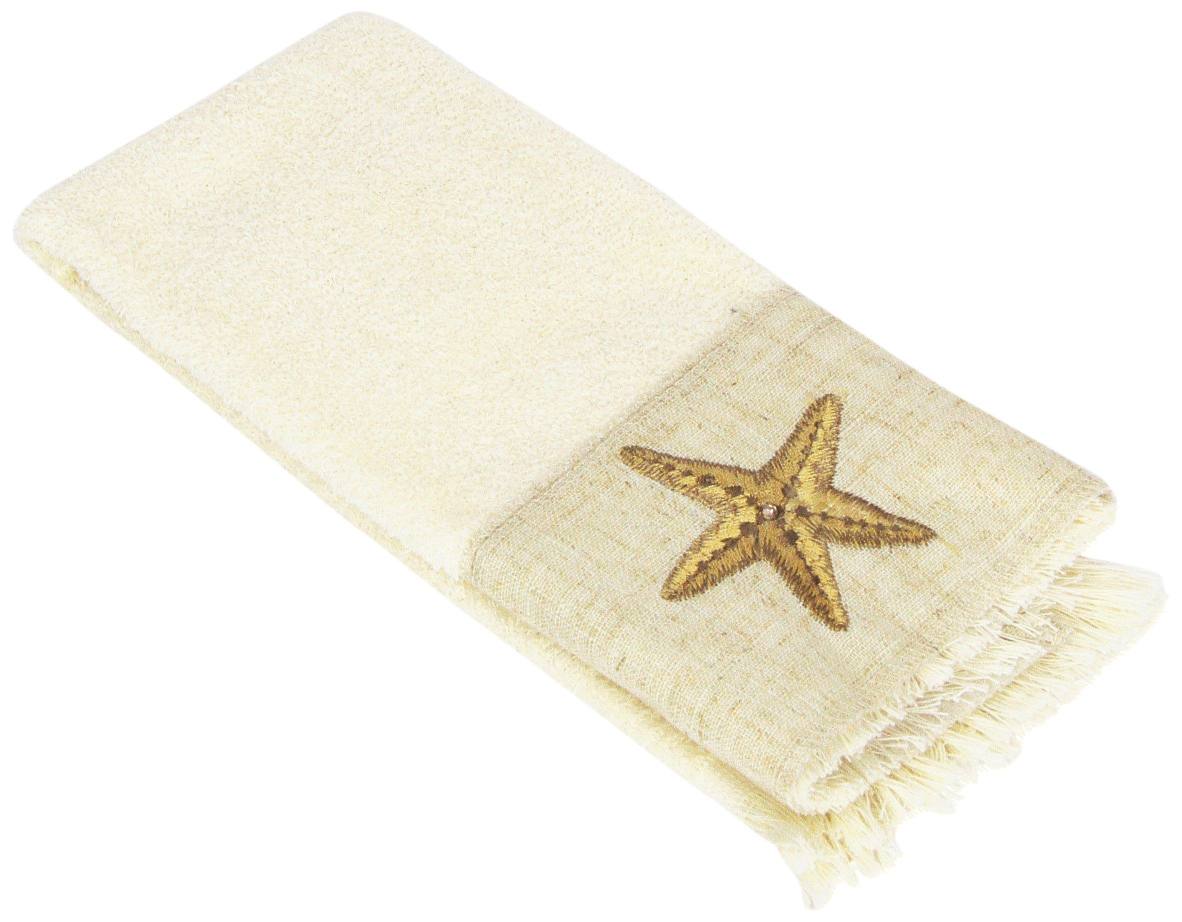 Avanti Sea Treasure Fingertip Towel, Ivory