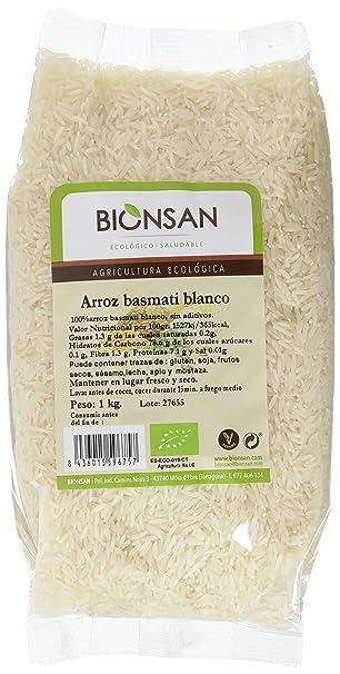 Bionsan Arroz Basmati Blanco - 3 Paquetes de 1000 gr - Total: 3000 gr