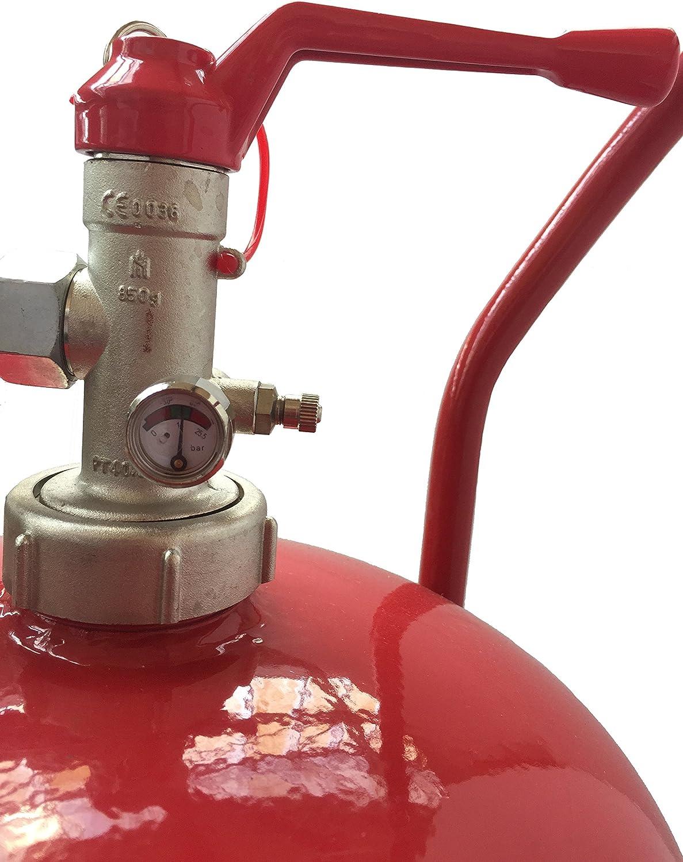 10 Meter Hochdruckschlauch L/öschpistole Manometer Einsatzbereich -30 /°C bis Messingarmatur Sicherheitsventil NEU 50 kg ABC Pulver Dauerdruck-L/öschwagen DIN EN 1866-1 60 C GS fahrbar