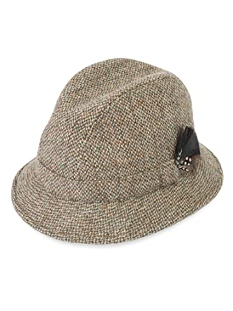 Harris Tweed Elgin Hat   Color - Autumn Heath   Size - 61cm  Amazon ... 46367cdcad2
