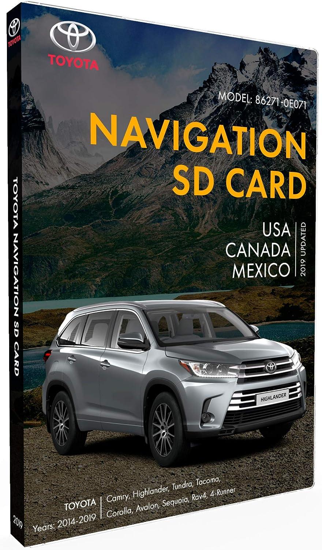 Toyota SD Navigation Card 86271-0E071 Toyota Camry Highlander Tundra Tacoma Corolla Avalon Sequoia Rav 4 Navigation Latest Update 2019