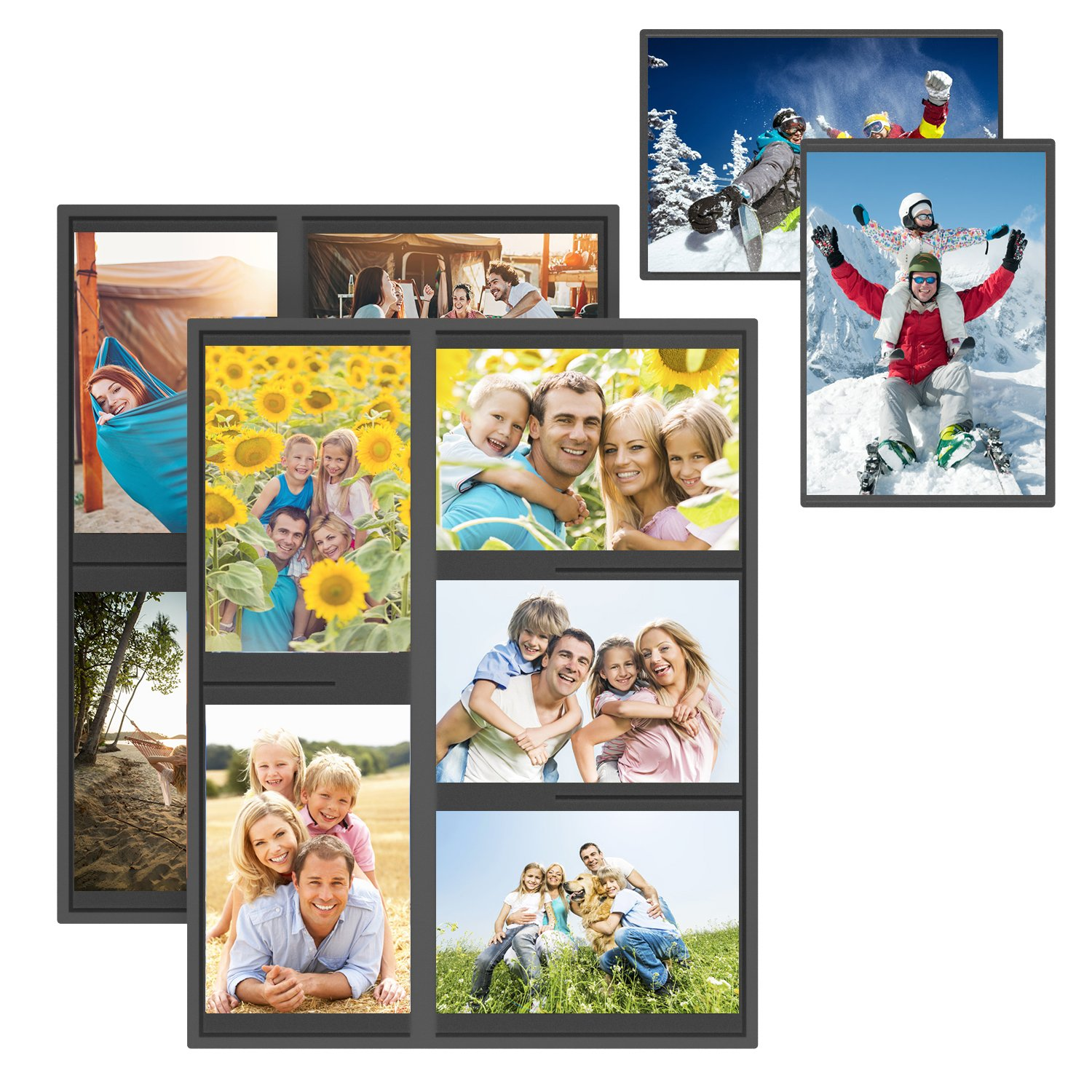 Unitystar 2 Pack Magnetic Picture Collage Frame For Refrigerator