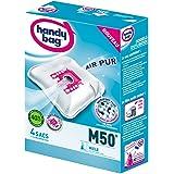 Melitta M50 Handy Bag 4 Sacs Aspirateurs, Pour Aspirateurs Miele, Fermeture Hermétique, Filtre Anti-Allergène, Filtre Moteur