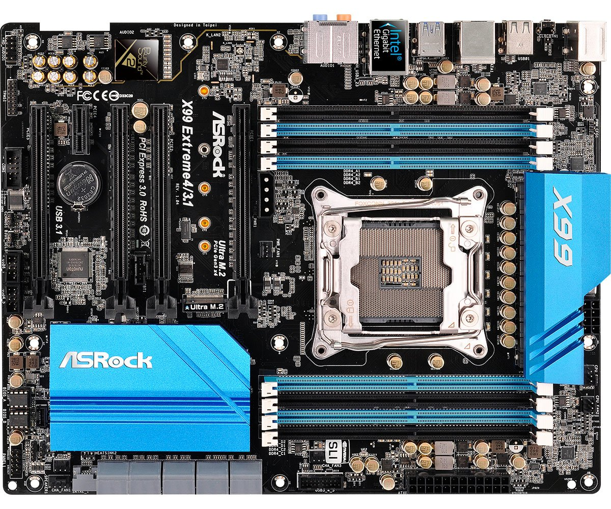 ASRock ATX DDR4 Motherboards X99 EXTREME4/3.1