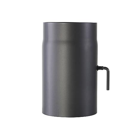 Kamino-Flam 331884, Tubo con Válvula para Chimenea, Acero, 15 x 0