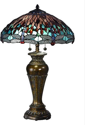 Dale Tiffany TT15102 Blue Dragonfly Tiffany Table Lamp