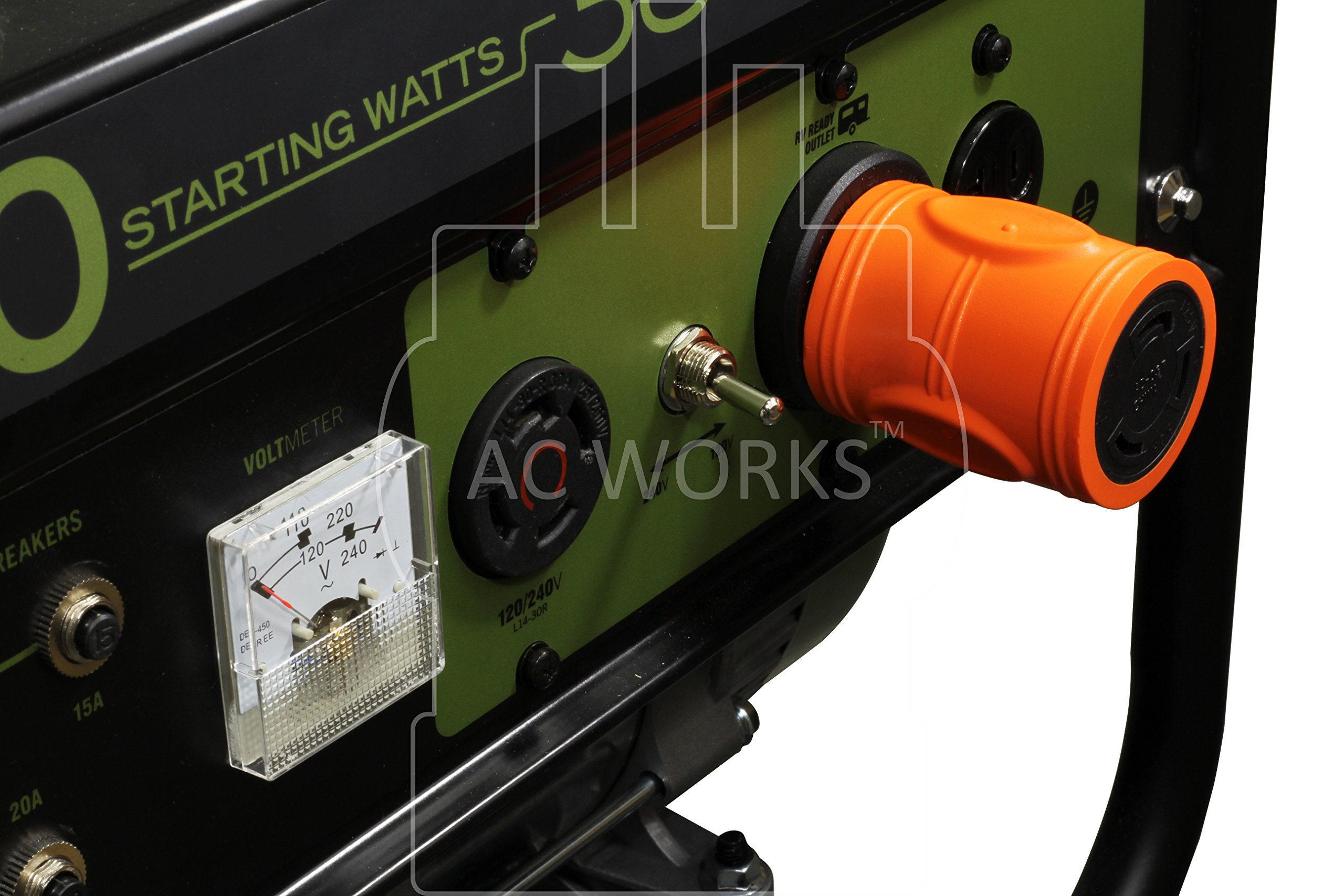 AC WORKS [ADTTL530] Generator Adapter RV 30Amp TT-30P to L5-30R 30Amp 3-Prong Locking Connector by AC WORKS (Image #5)