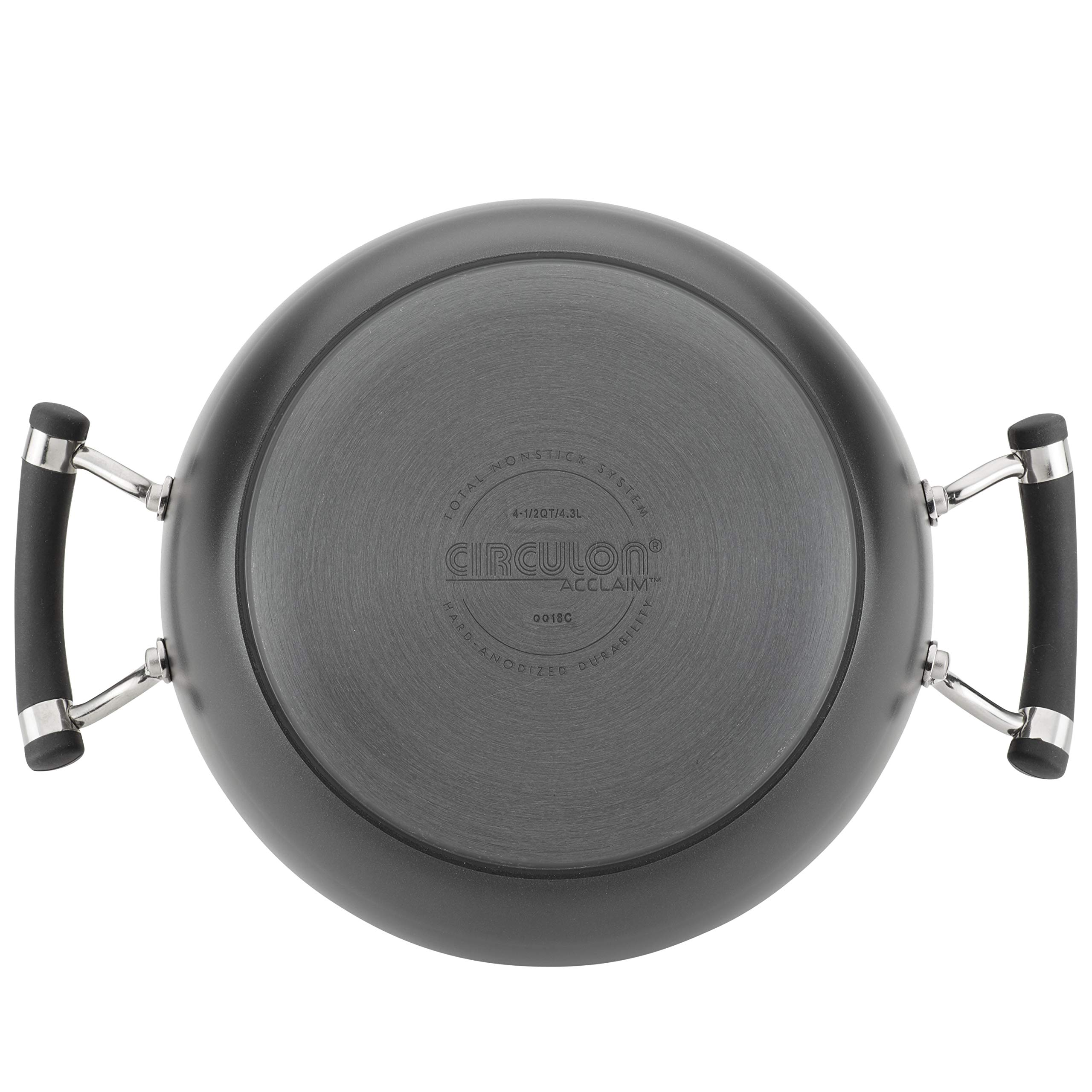 Circulon Acclaim Hard-Anodized Nonstick 4.5-Quart Covered Casserole by Circulon (Image #3)