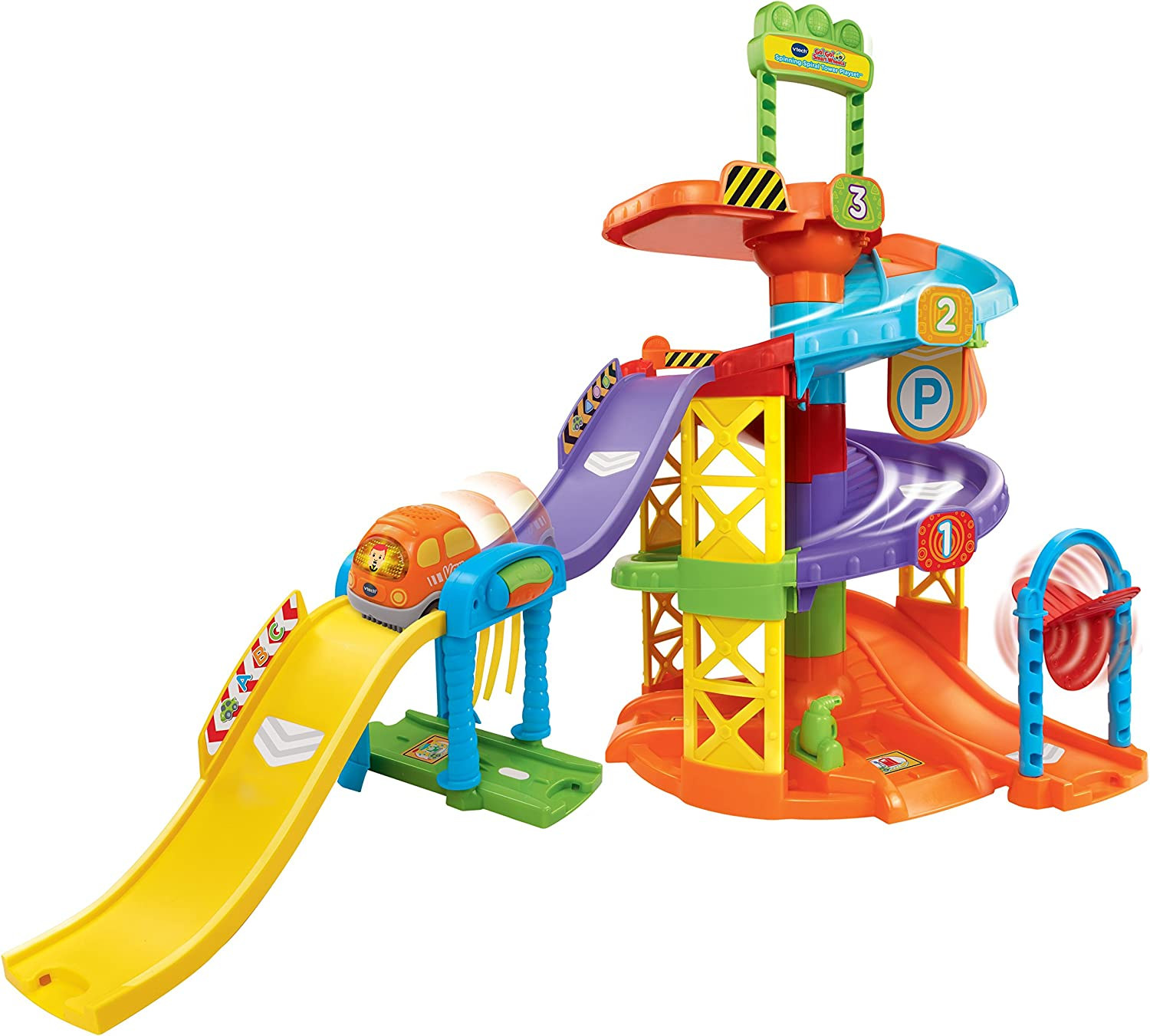 VTech Go! Go! Smart Wheels Spinning Spiral Tower Playset (Frustration Free Packaging) Multicolor, 12.60 x 20.67 x 28.15 Inches