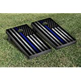 Amazon hey play do it yourself regulation size corn hole thin blue line police themed cornhole game set solutioingenieria Images