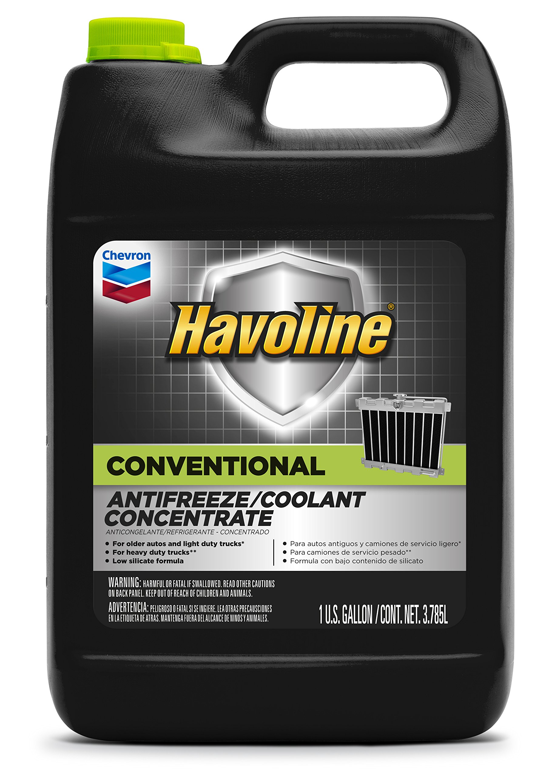 Havoline Conventional Antifreeze/Coolant - 1 Gallon, (Pack of 6) by Havoline