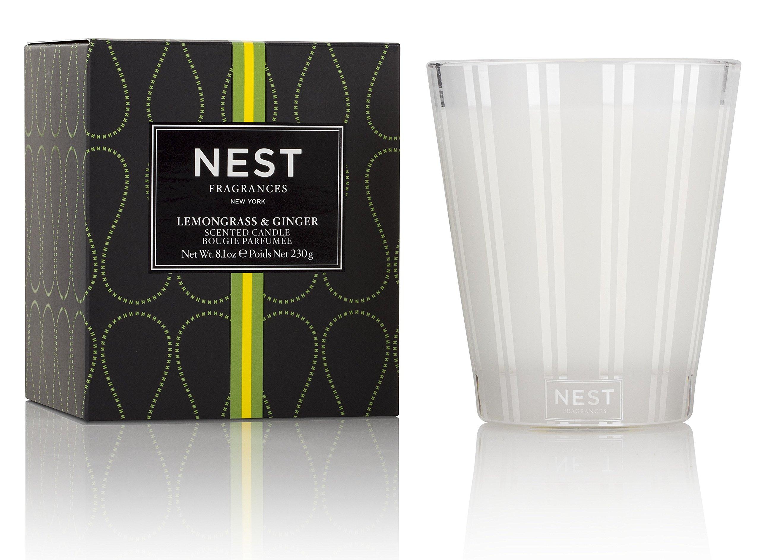 NEST Fragrances NEST01LG003 Classic Candle- Lemongrass & Ginger , 8.1 oz