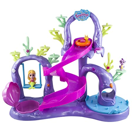 splashlings coral playground includes play set 1 mermaid 2 splashling figurines