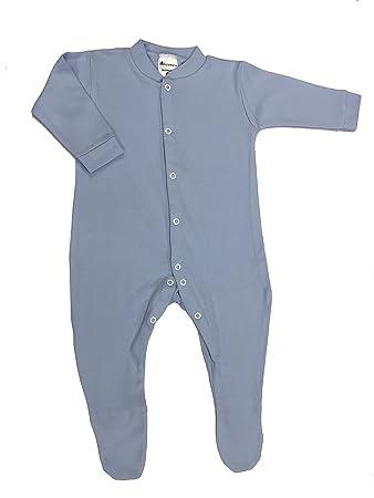 da318c0e6738 BabywearUK Sleepsuit - Sky blue - 6-12 months - British Made  Amazon ...