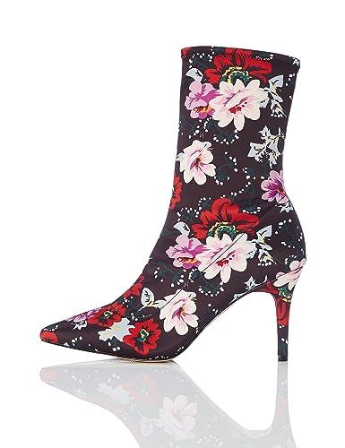 02f6d02112a0 FIND Bottines Chaussettes Talons Aiguille Femme  Amazon.fr  Chaussures et  Sacs