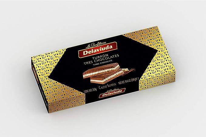 Delaviuda Turrón Tres Chocolates - 5 Paquetes de 300 gr - Total: 1500 gr