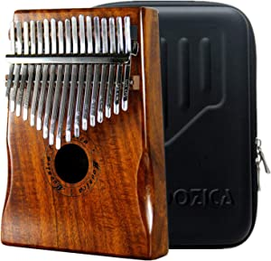 Moozica 17 Keys Kalimba Marimba, Solid Koa Wood Professional Thumb Piano Musical Instrument Gift (Koa-K17K)