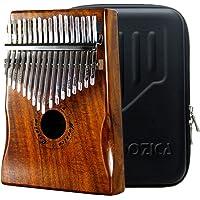 MOOZICA 17音カリンバ, 親指ピアノ Kalimba 17音の指ピアノ, 高品質の17鍵カリンバ (コアアカシア木-K17KS)