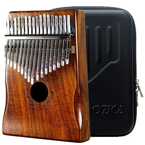 Moozica 17 teclas Kalimba, piano marimba de pulgar de madera de tono sólido de alta