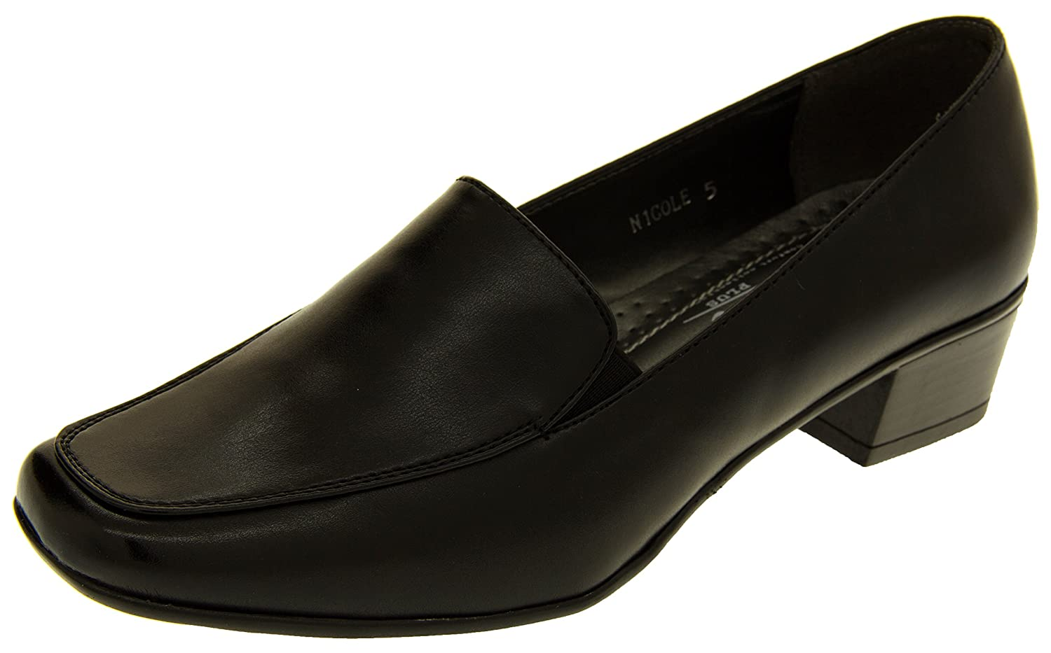 Annabelle Womens Nicole Faux Leather Formal Loafer Pumps