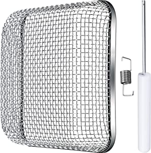 Tatuo Flying Insect Screen RV Furnace Vent Cover Water Heater Vent Cover Stainless Steel Mesh with Installation Tool (4.5 x 4.5 Inch)