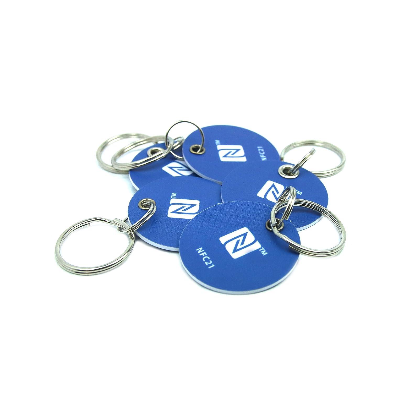 5 NFC Tag Pegatina, 30 mm, NXP NFC Chip, 180 Byte, Azul ...