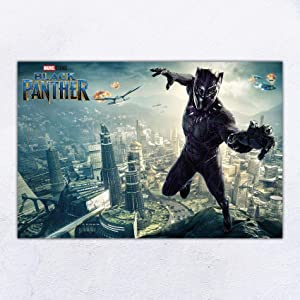 UpdateClassic Black Panther Movie Poster and Prints Unframed Wall Art Gifts Decor 24x36