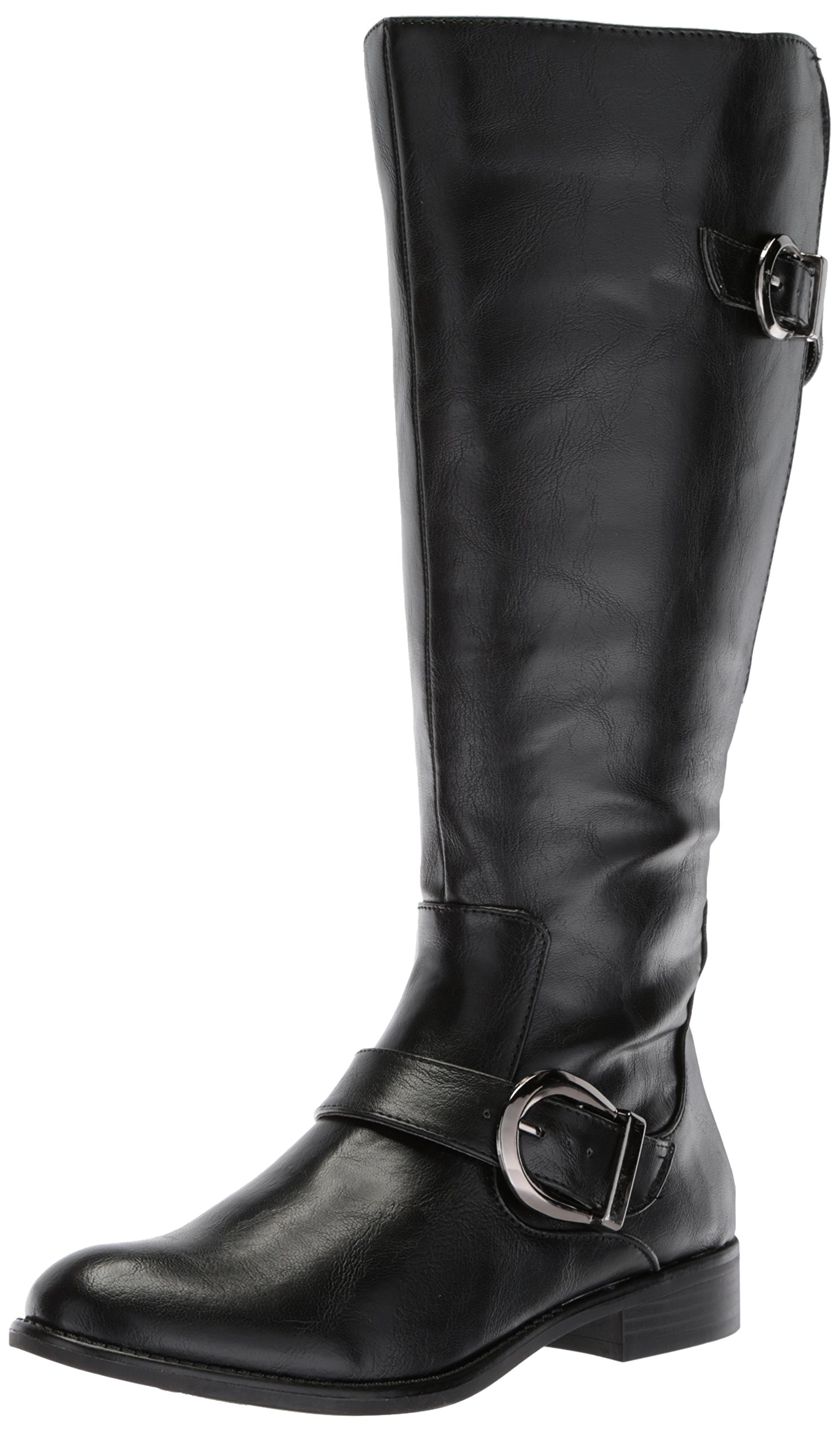LifeStride Women's Rosaria-WC Equestrian Boot, Black Wc,11M