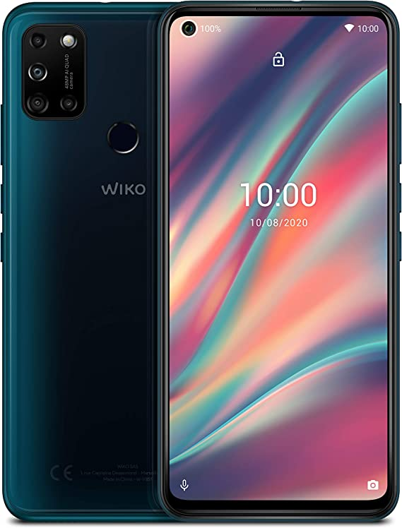 Wiko View5 Smartphone 6 55 Zoll 16 63 Cm 5000 Mah Akku 48 Mp Ki Quad Kamera O Display 64gb 3gb Dual Sim Android 10 Pine Green Elektronik