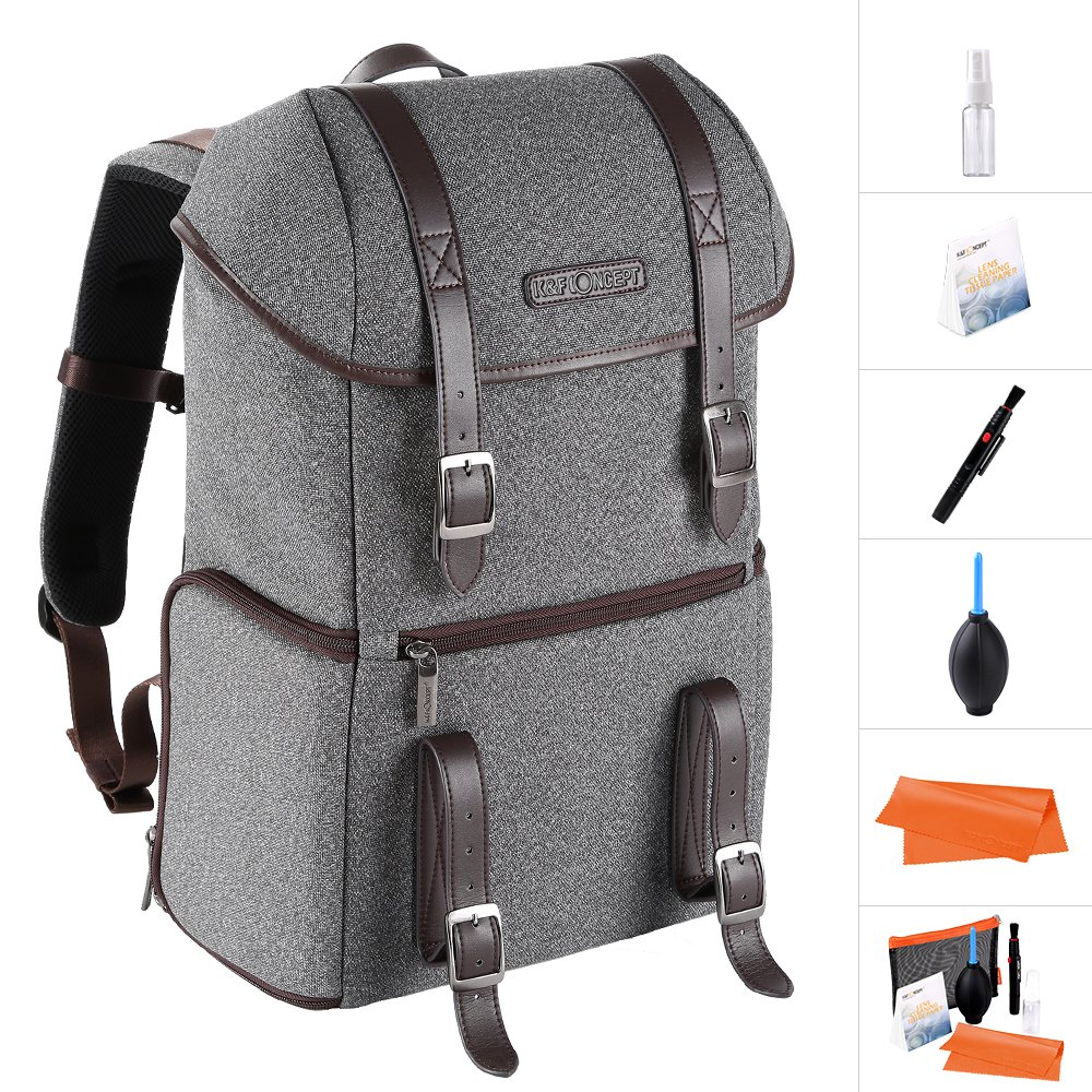 K& F Concept Waterproof Multi-function DSLR Camera Backpack Nylon Grey Large(X) Size with 14'' Gadget Laptop for Canon Nikon Sony Shenzhen Zhuoer Photograph KF13.081