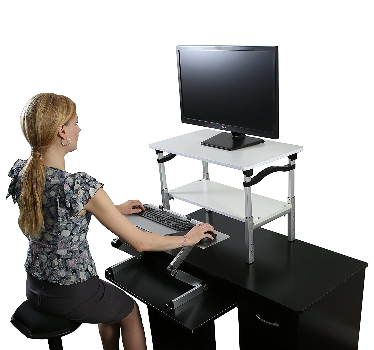 height raises adjustable desk legs and standing creativity top that stand lowers sit computer outstanding ikea