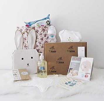 Canastilla bebé Recién nacido - Regalo recién nacido original con Sophie la Jirafa, Mustela, Avent y más productos esenciales para bebés: Amazon.es: Bebé
