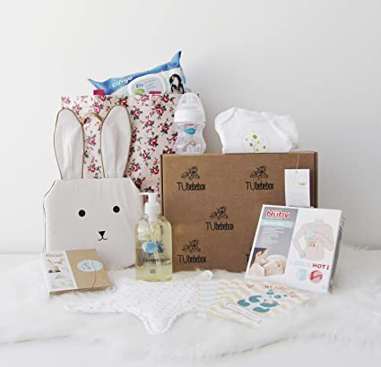 Canastilla bebé recién nacido - Cesta regalo bebé unisex - Incluye productos para primeros meses del