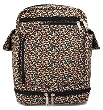 7d0c3def2067 Be Safe Bags Anti-Theft Convertible Backpack (Medium, Leopard)