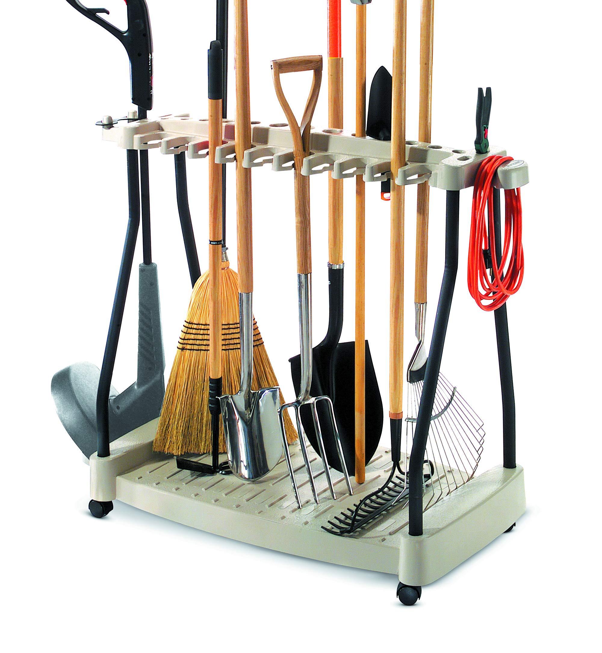 SD490 Capacity Lift Plate-Made In USA Organize /& Store Lawn /& Garden Tool Garage Storage Rack /& Yard Cart Garden Wheelbarrow Wagon SuperDuty Lawn /& Garden ToolBox on Never Flat Wheels /& 120 Lb