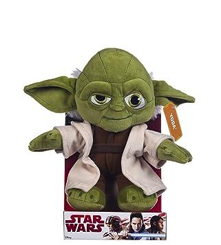 c3ba3811f7e Disney Starwars 10-Inch Yoda Plush Toy  Amazon.co.uk  Toys   Games