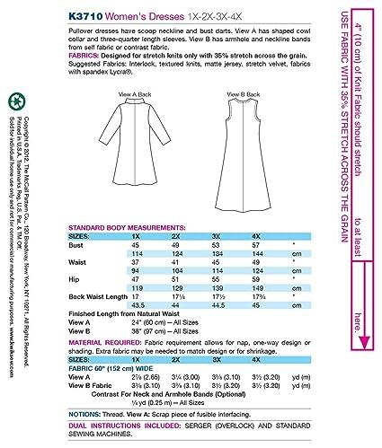 99e3a9416a9dd4 Amazon.com  Kwik Sew K3710 Dresses Sewing Pattern