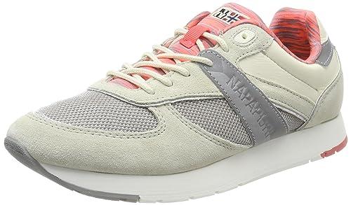 Napapijri Hellgrau Schuhe Sneaker aus Veloursleder mit