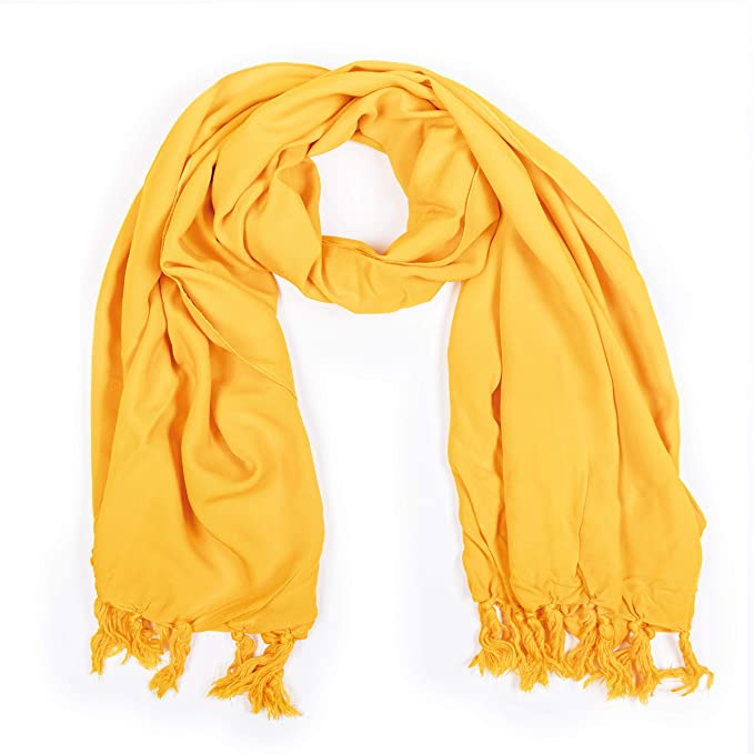 manumar sarong opaco de mujer como minifalda (155x55cm) | toalla de playa pareo para niños con hebilla | tela ligera amarillo con flecos/borlas para niños ...