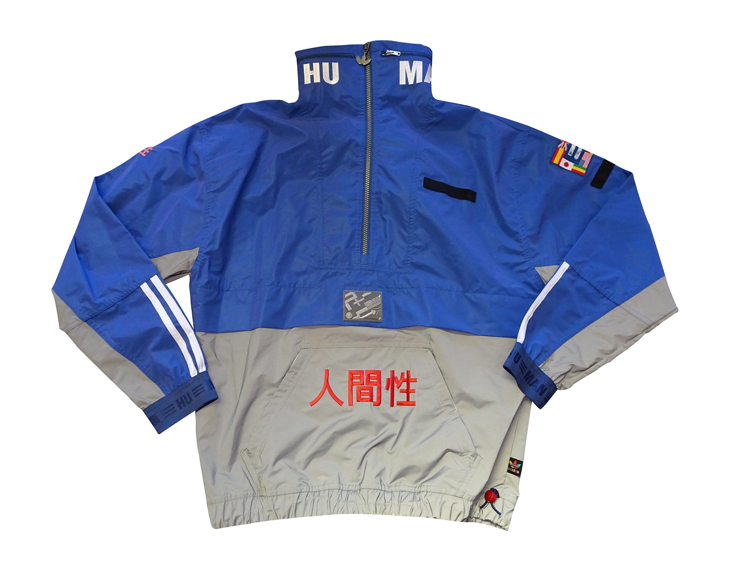 adidas X Pharrell Williams Human Race Half Zip Wind Breaker Jacket (Medium, Multicoloured BR3148) by adidas