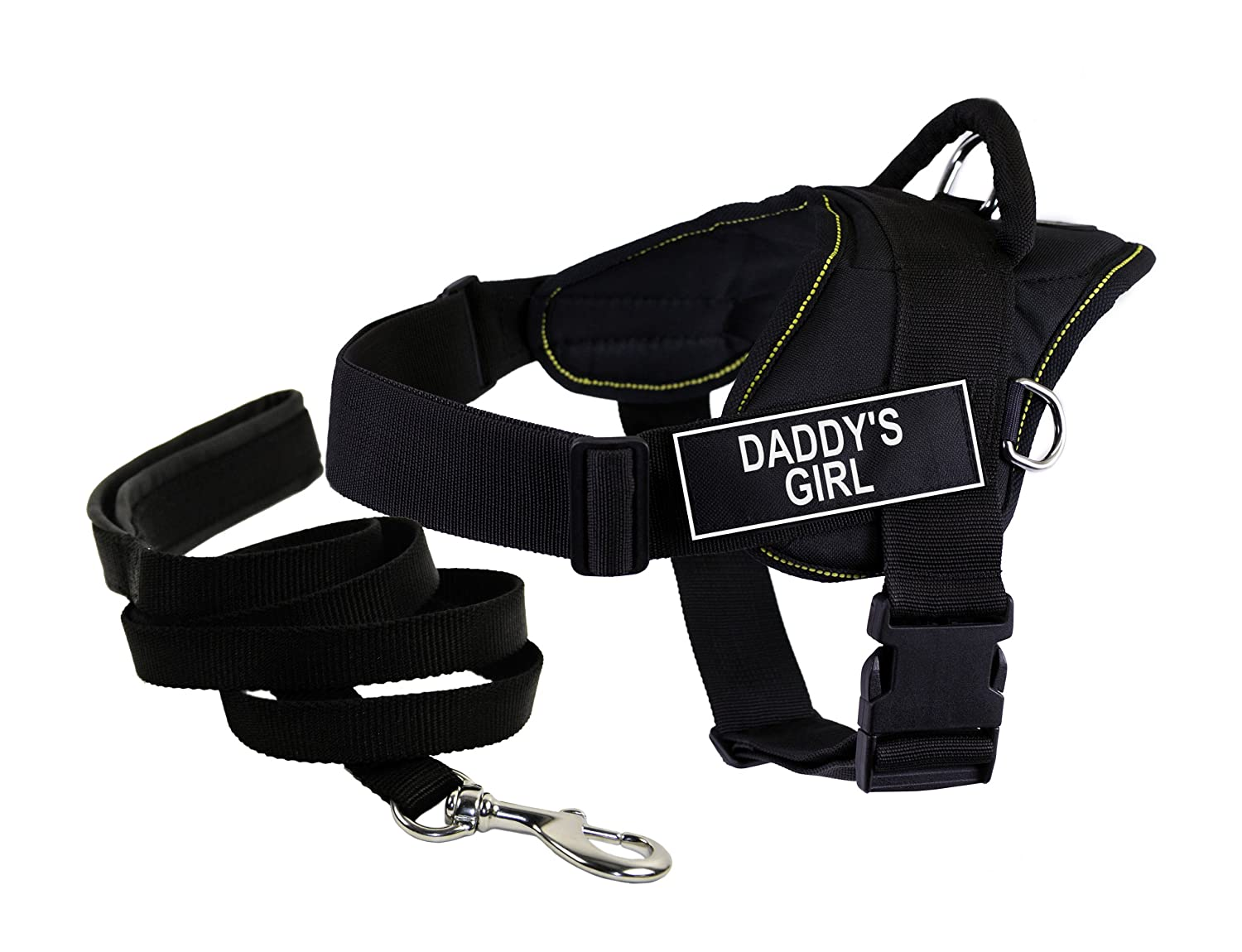 Dean & Tyler's DT Fun Daddy's Girl  Harness, X-Small, with 6 ft Padded Puppy Leash.